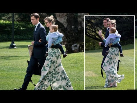 Ivanka Trump wears VERY wide leg trousers as she heads to Camp David with Donald Trump