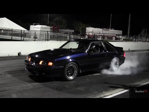 Turbocharged Mustang Fox Body 9 60 146 Mph Drag Race Video