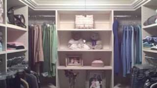 Walk In Closet, Crown Molding, Walnut Glaze