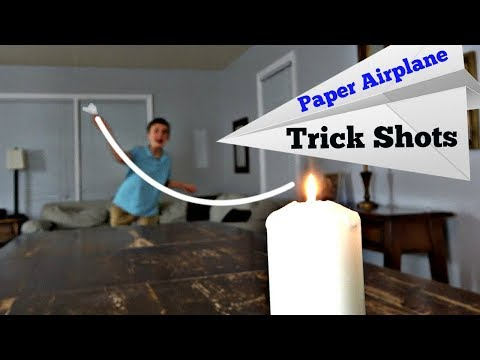 Paper Airplane Trick Shots | That鈥檚 Amazing