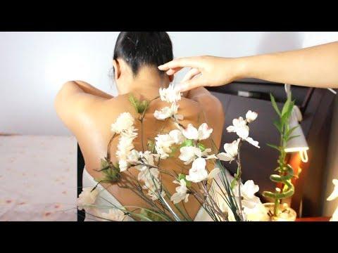 ASMR Russian Platza (Inspired), RELAXING Back Massage (Flowers, Spray Bottle, Oil, ZEN ZONE)!!
