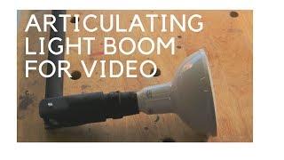 Adjustable Articulating LED Light Boom For Video