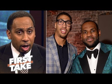 If Anthony Davis joins LeBron, the Warriors no longer favorites – Stephen A. | First Take