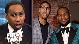 Stephen A.: If Anthony Davis joins LeBron James, Warriors no longer favorite | First Take | ESPN thumbnail