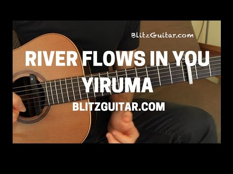 River Flows in You by Yiruma Easy Melody Acoustic Guitar Lesson Fingerstyle for Beginners Part 1