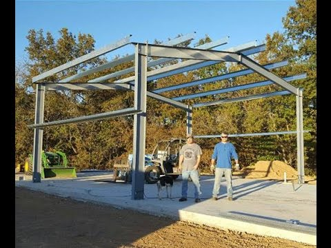 Steel Frame Building Do It Yourself Family Project with Amer