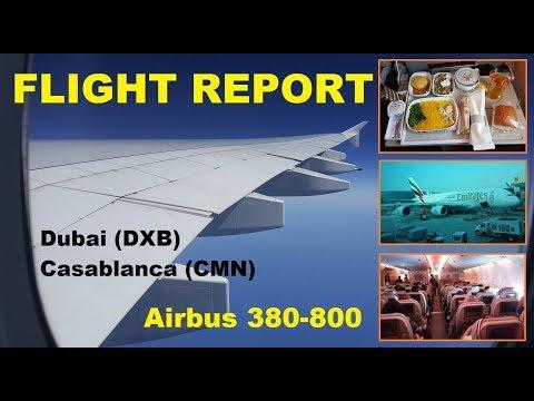 Flight Report | EMIRATES | Airbus 380-800 | Dubai to Casablanca |