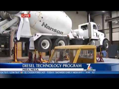 Miramar College Diesel Tech Program on NBC San Diego 7 aired October 9, 2013.