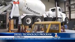 Miramar College Diesel Tech Program on NBC San Diego 7 aired October 9, 2013.