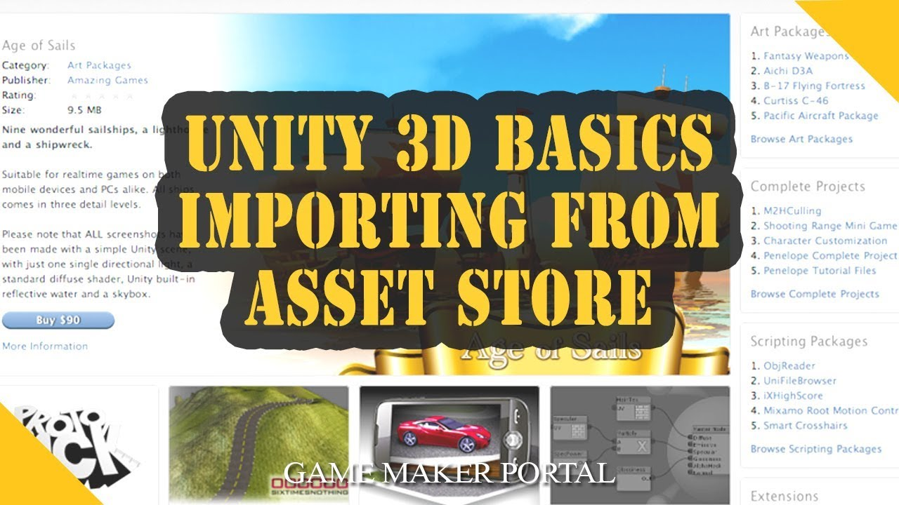 Unity 3D Basics: Importing from Asset Store
