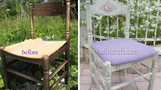 How to paint / distress furniture. How to make Vintage style Shabby chic. Decoupage tutorial DIY