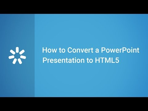How To Convert A PowerPoint Presentation To HTML5