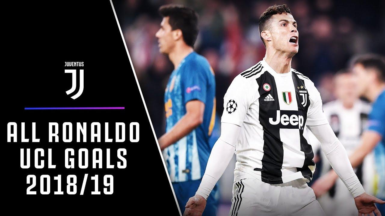 All Cristiano Ronaldo Champions League Goals 2018 19 Youtube