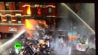 FDNY video captures part of New York building collapse in East Village