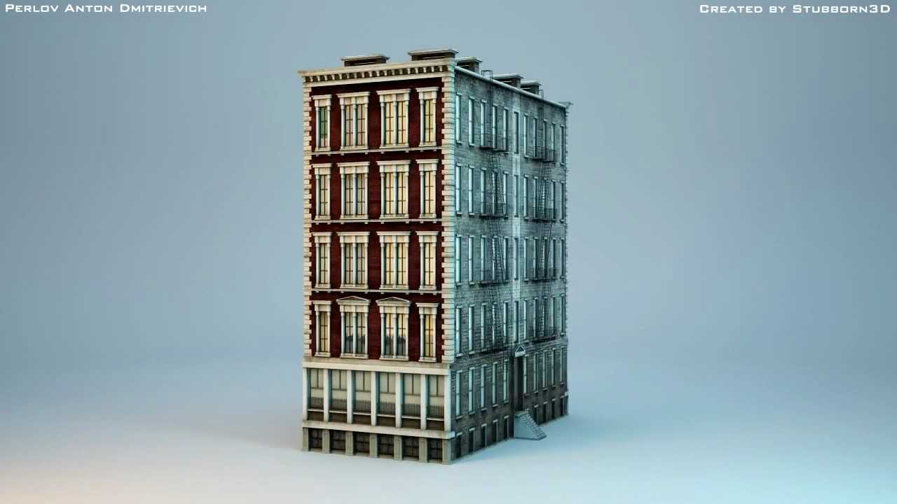 3d model new york building youtube On model house nyc
