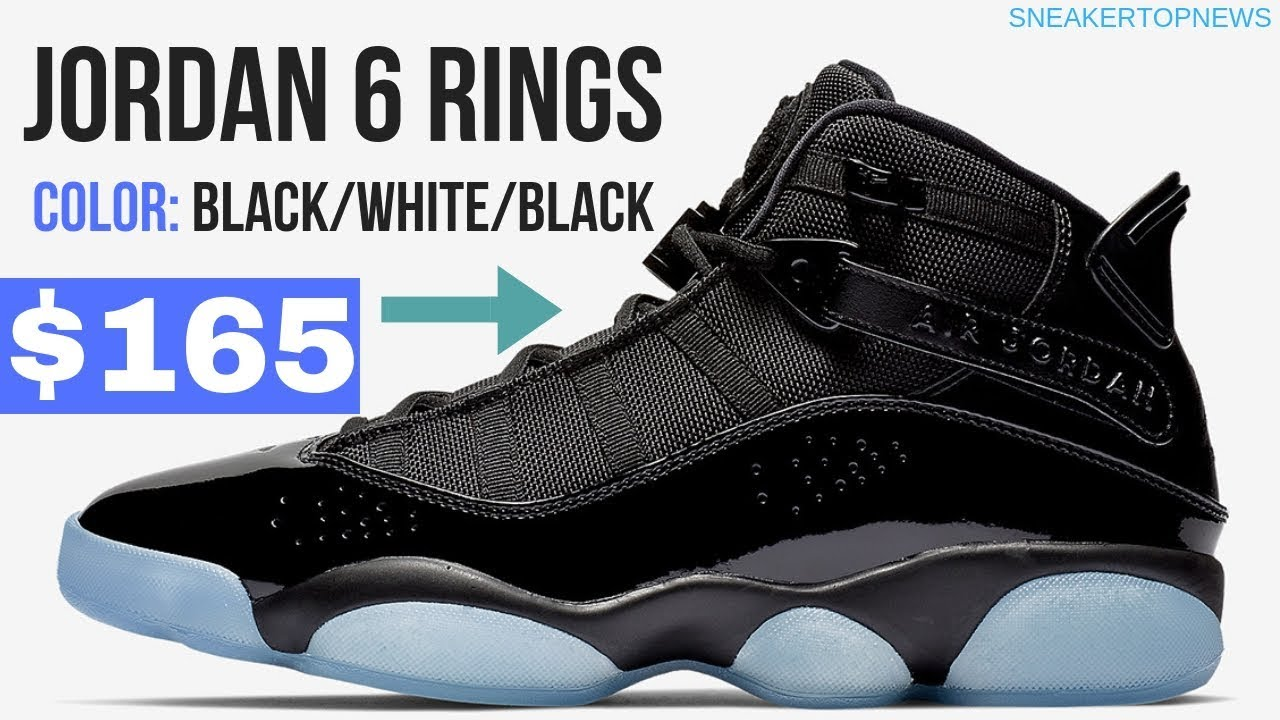 d218f436f802b6 The Jordan 6 Rings Appears In A Crisp Black And Ice