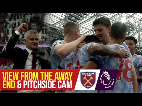 Pitchside Cam & View from the Away End | Lingard & De Gea heroics seal dramatic win at West Ham