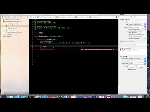 Split string over multiple lines Swift 5 Xcode 10 thumbnail