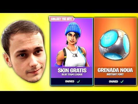 Skin Gratis Editia PS4 + Grenada INSTA-FORT pe FORTNITE (LIVE)