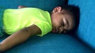 Baby Luke Sleeping Snoring at 1 year old