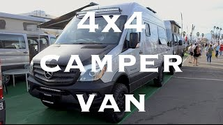 Sportsmobile Mercedes Sprinter 4x4 Camper Van(Walkthrough of the Sportsmobile high roof Mercedes Sprinter 4x4 camper van with a wet bath shown at the Pomona RV Show. If you enjoyed this video and ..., 2016-10-27T16:56:57.000Z)