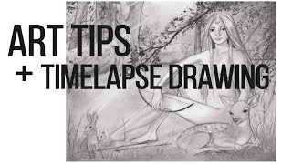 5 Tips to Improve your Drawings // Timelapse Drawing