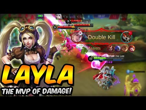 LAYLA IS THE MVP OF DEALING DAMAGE! MOBILE LEGENDS