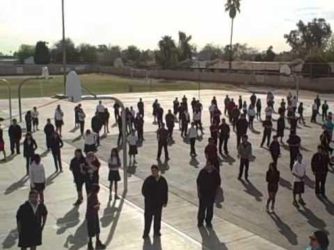 w/Candice Hood hosting School wide workout at Pueblo Del Sol