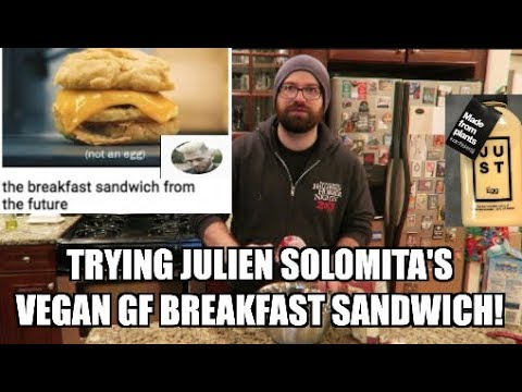 TRYING TO MAKE JULIEN SOLOMITA'S VEGAN GLUTEN FREE BREAKFAST SANDWICH RECIPE!
