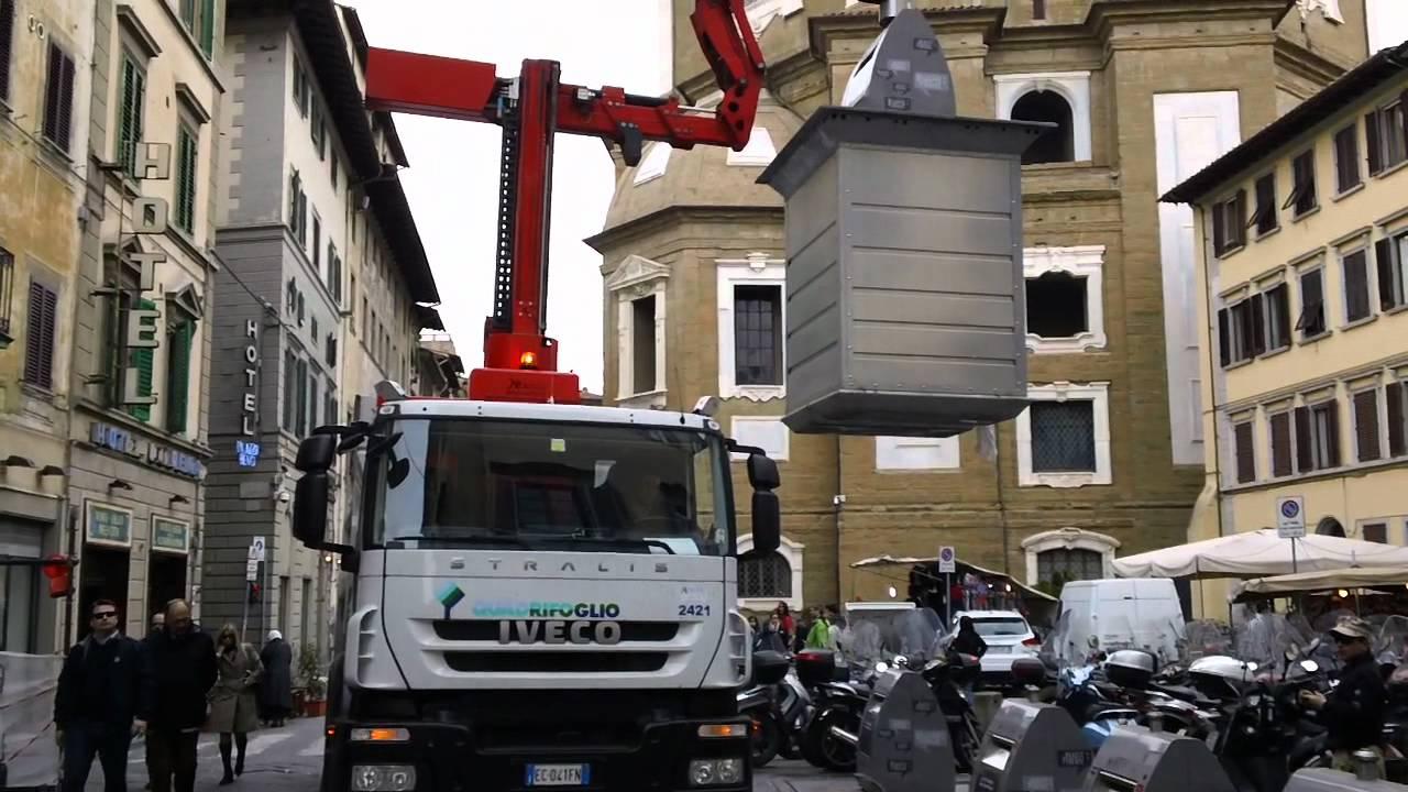 Italian Solr Walks Past A Pile Of Garbage In Quarto Naples