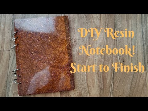 How to make a Resin Notebook - Epoxy Notebook I Period Six Designs
