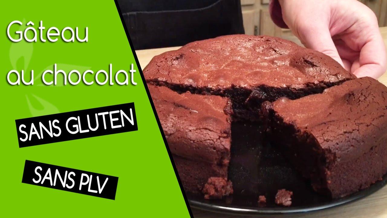 G teau au chocolat sans gluten sans plv youtube - Gateau au chocolat sans four ...