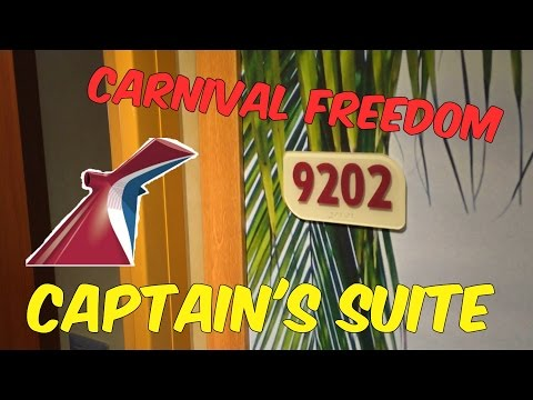 2016 Carnival Freedom, Room 9202, Captain's Suite