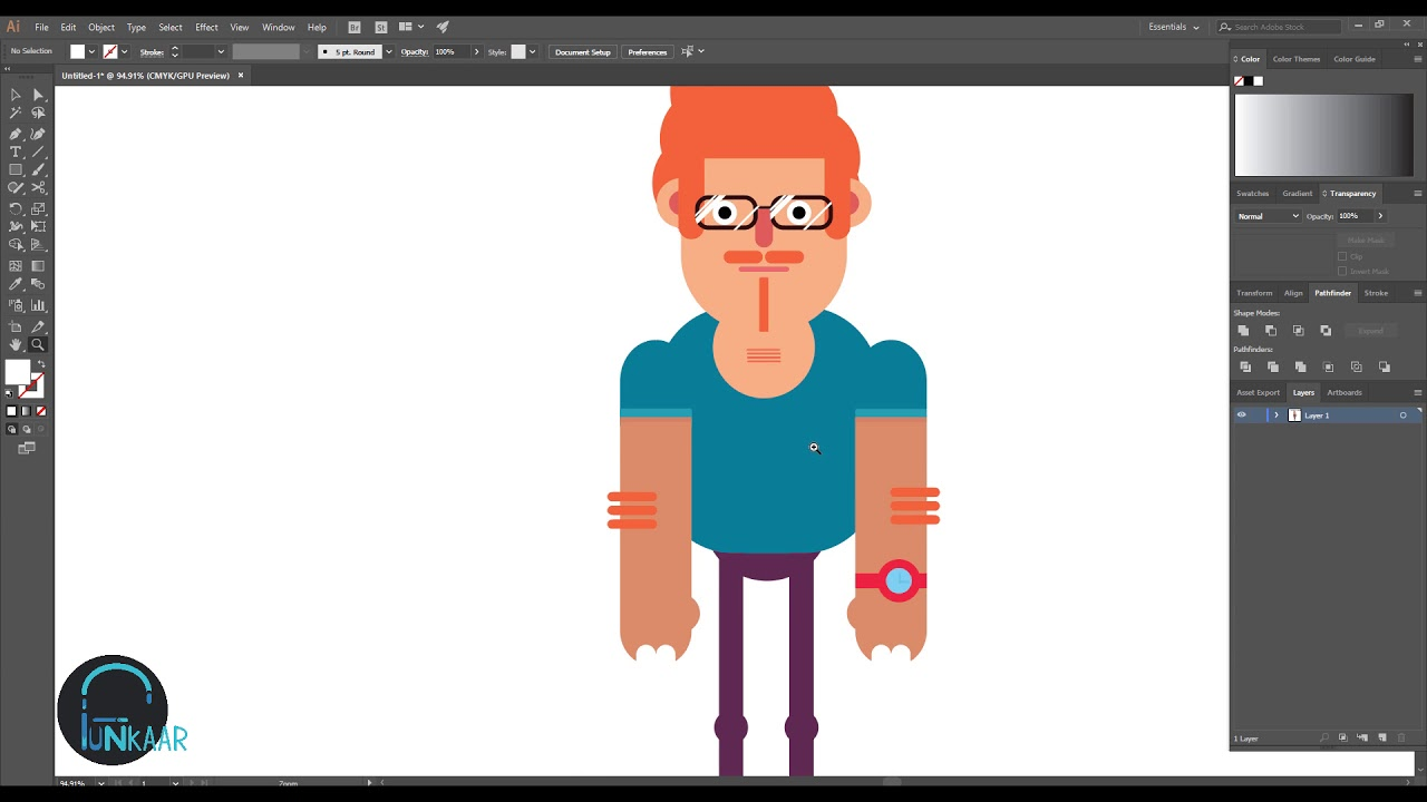 Flat Character Design Tutorial : How to draw flat character illustrator speed art tutorial