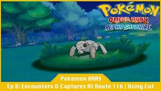 Encounters And Captures At Route 116 | Using Cut - Pokemon Omega Ruby And Alpha Sapphire [#08]