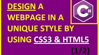 Tutorial 1: How to Design a Webpage using CSS and HTML