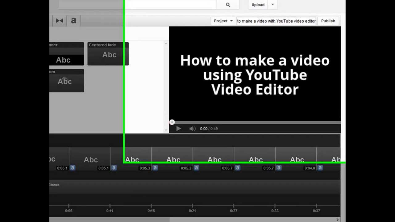 How to make a video with YouTube video editor | How to Use ...