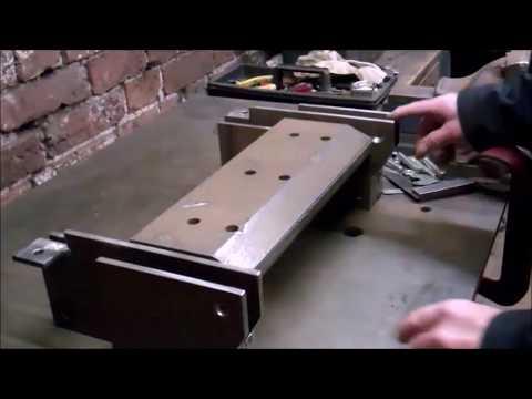 Metal folder being built for precision bending