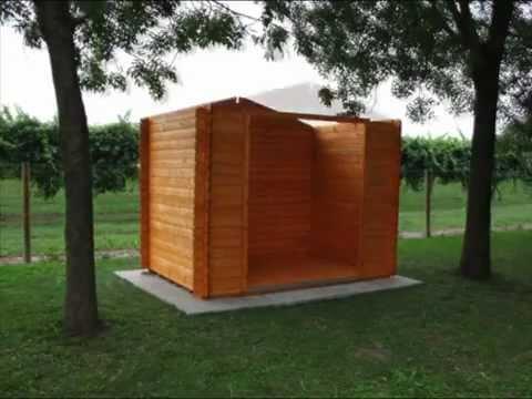 Montaggio casetta in legno blockhouse youtube - Casette di legno da giardino ikea ...