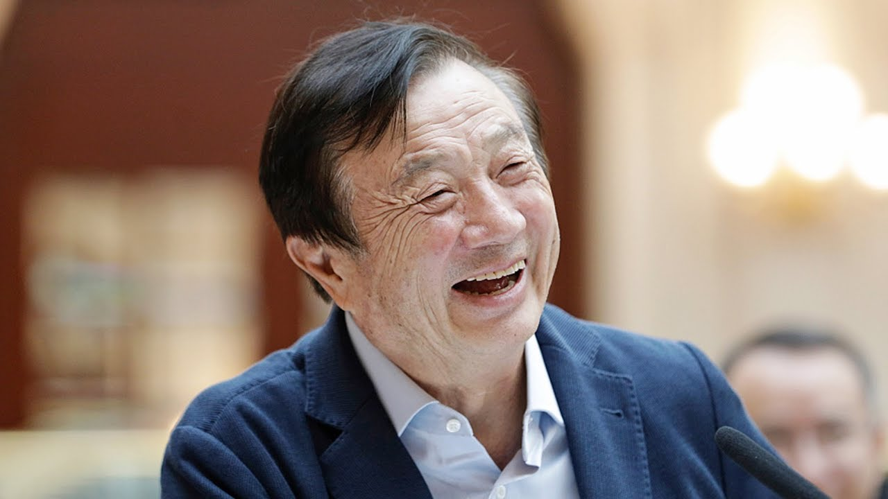 Huawei's CEO Ren Zhengfei calls his daughter to tell jokes - YouTube