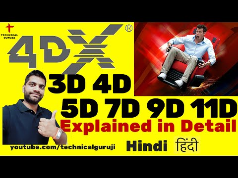 Hindi 3D, 4D, 5D, 7D, 9D, 11D Explained in Detail  4Dx is Amazing