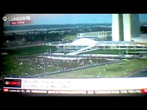 Globo News-manifestações 26/06 Recife, BH e Brasília 2