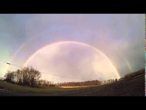 Double Rainbow Severe Storms 2/24/2016 Pennsylvania