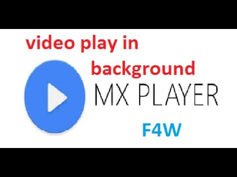 How to play video background in MX player |Background Video play on MX video player