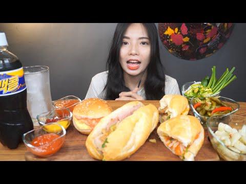"""빵쪼가리 아니쥬~ 반미에요 ^-^!!  Vietnamese Banh Mi ! """"Vua Banh Mi"""" - Hany 헝이 ASMR Mukbang"""