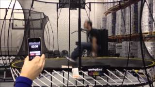 Guinness World Record: Most Seat Drops in 1 Minute on a Trampoline