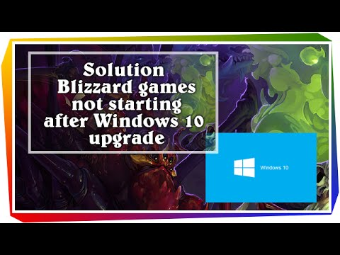 How to fix: Blizzard games not starting after windows 10