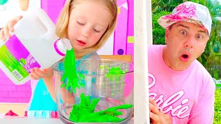 Nastya als Kindermädchen für Papa, neue lustige Kinderserie