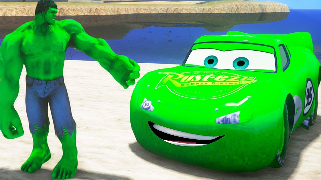42068d8667 O Incrível Hulk em Português! Hulk Esmaga Carros com Relâmpago ...