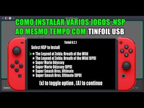 COMO INSTALAR VARIOS JOGOS  NSP AO MESMO TEMPO COM TINFOIL USB NINTENDO  SWITCH